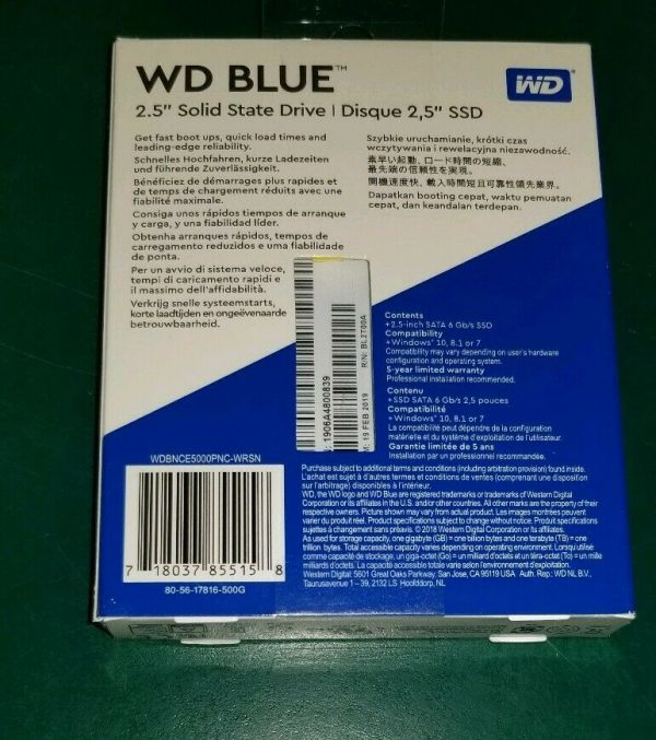 wdbnce5000pnc wrsn 3 600x677 - WD Blue SOLID STATE DRIVE