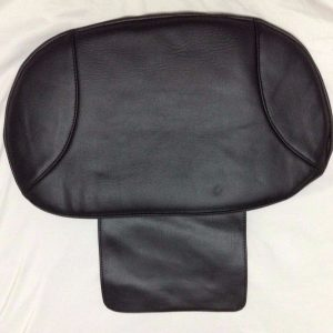 Black Leather Pedicure Chair Cover