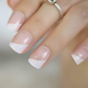 French White Tip Press On Nails