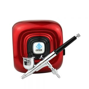 OPHIR Red Air Compressor with Airbrush Kit